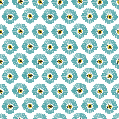 Floral Seamless Pattern Cute Geometric Background With Leaves