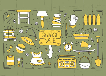 Lments Garage de vente Banque d'images - 69367189