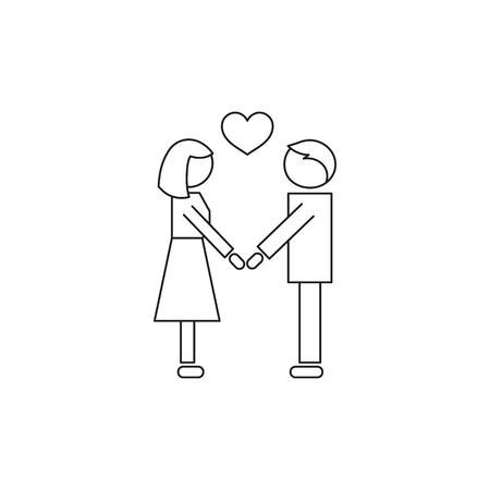faithfulness: People in love line icon