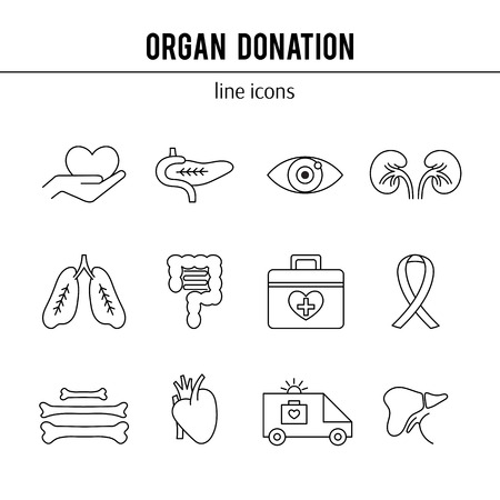 donacion de organos: Organ Donation icon set