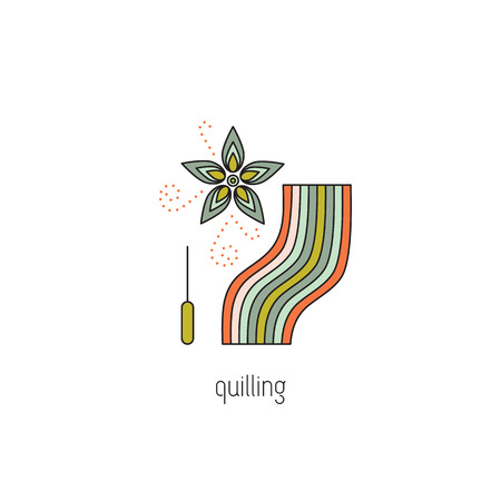 Quilling line icon