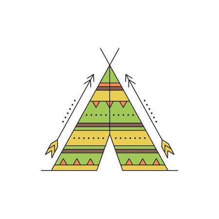 wigwam: Wigwam line icon