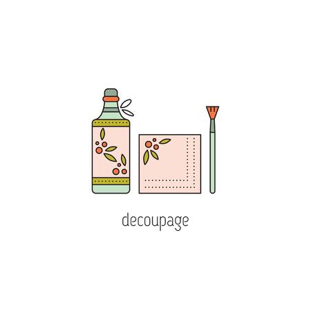 decoupage: Decoupage line icon Illustration