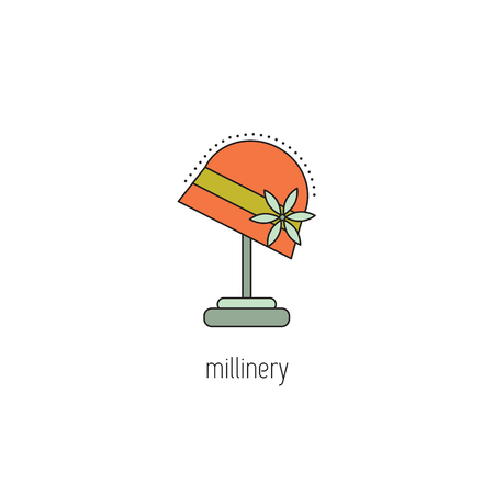 Millinery line icon