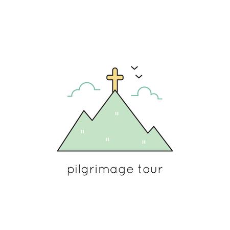nazareth: Pilgrimage line icon Illustration