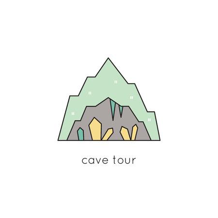 Cave line icon