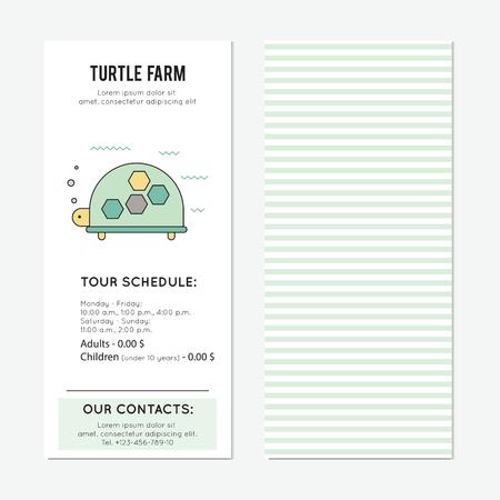 Turtle vertical banner