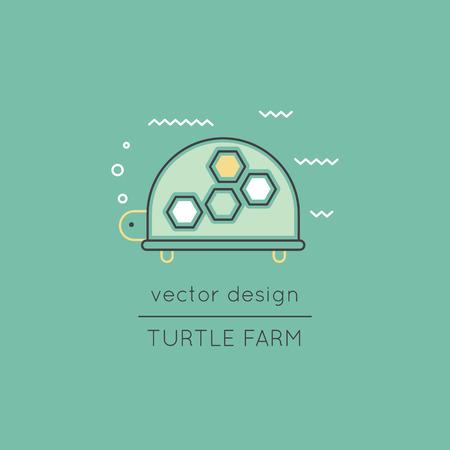 Turtle line icon Illustration