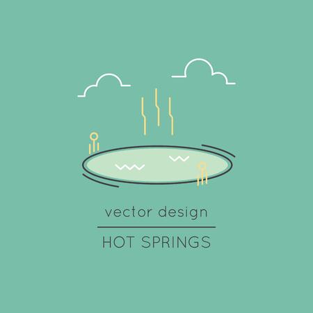 Hot springs icono de línea