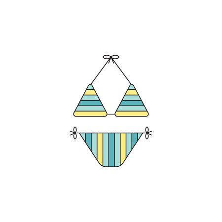 Swimming suit line icon