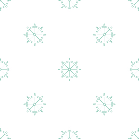 Simple Seamless Pattern Vector Background With Steering Wheels Can Be Used For Wallpaper