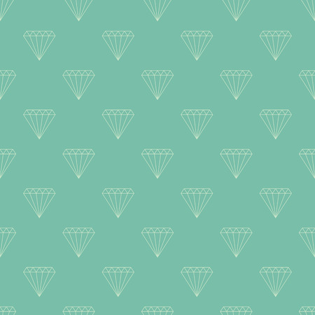 Simple seamless pattern. Vector background with diamonds. Can be used for wallpaper, surface texture, scrapbooking, fabric prints. For jewelry, travel agency products, tour brochure, excursion banner.