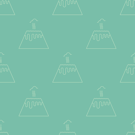 Simple seamless pattern. Vector background with volcanos. Can be used for wallpaper, surface texture, scrapbooking, fabric prints. For retail, travel agency, tour brochure, excursion banner. Illustration