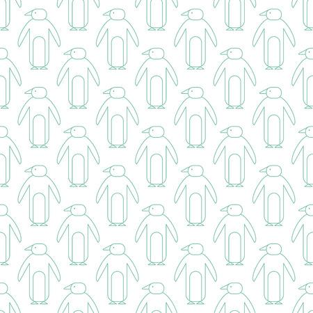 Modèle sans couture simple. Fond de vecteur avec des pingouins. Peut être utilisé pour le papier peint, les textures de surface, le scrapbooking, les impressions sur tissu. Pour le zoo, les produits d'agence de voyage, la brochure de visite, la bannière d'excursion.