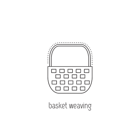 Basket weaving vector thin line icon isolated symbol logo template basket weaving vector thin line icon isolated symbol logo template element for business maxwellsz