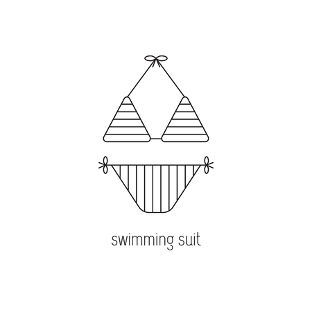 bathe: Swimming suit line icon