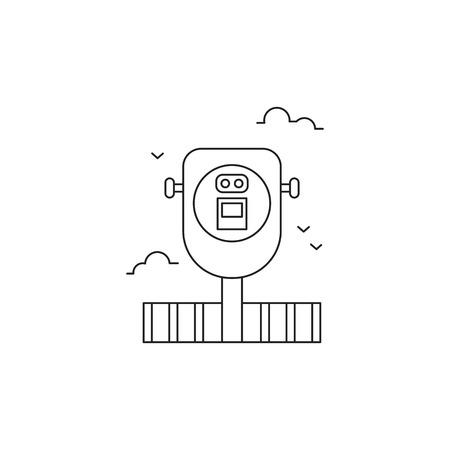 Observation deck line icon