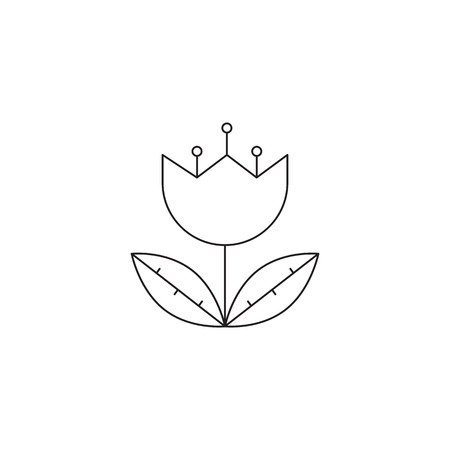 excursion: Botanical garden line icon Illustration