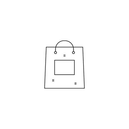 excursion: Shopping bag line icon Illustration