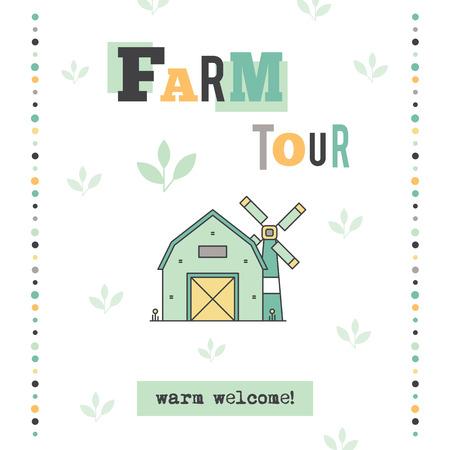 excursion: Farm tour banner Illustration