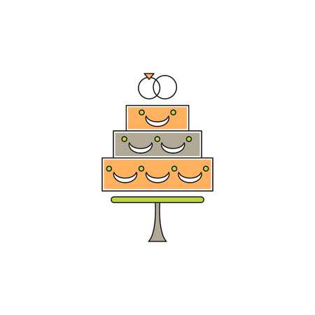 Wedding cake line icon