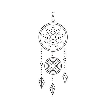 talisman: Un icono de línea de Dreamcatcher.