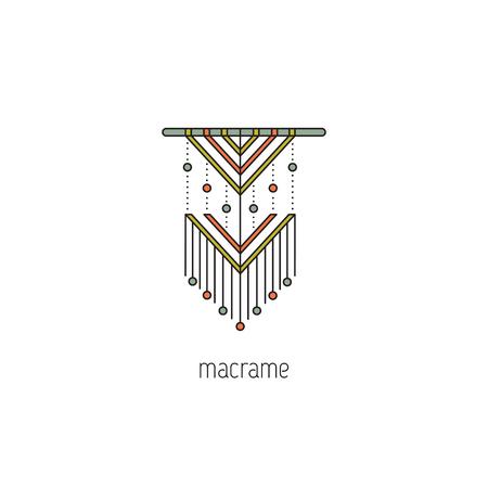 Macrame line icon 矢量图像