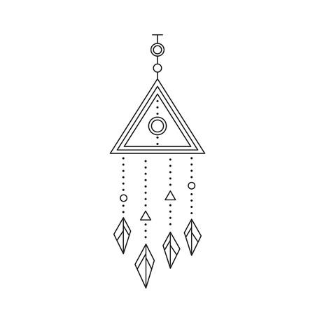 Indian talisman line icon