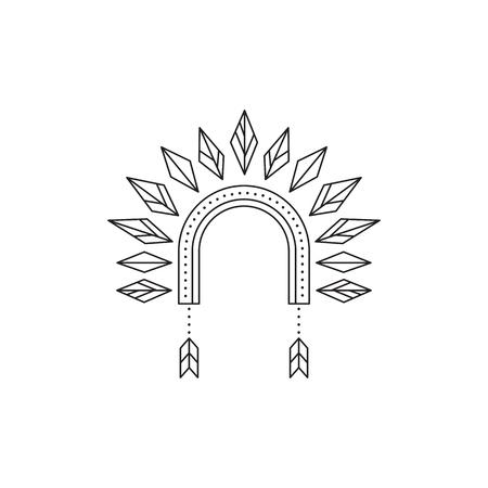 Icono de línea del capó de guerra