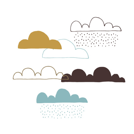 bad weather: Vector set of clouds Illustration