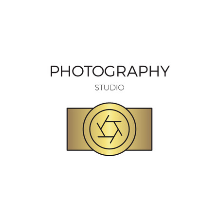 minimalistic: Photography line logo template