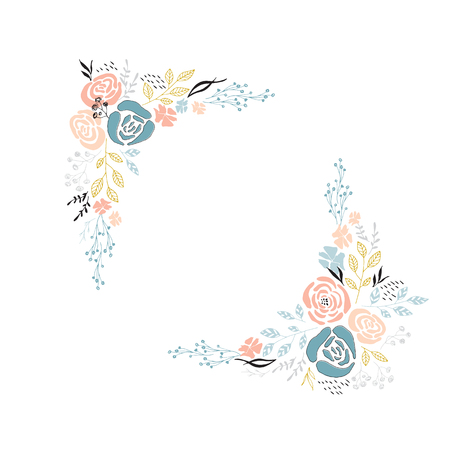 marco floral del vector
