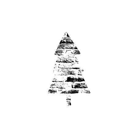 impression: Vector textured Christmas tree