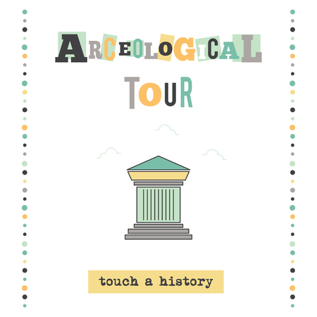 Archeological tour banner 일러스트