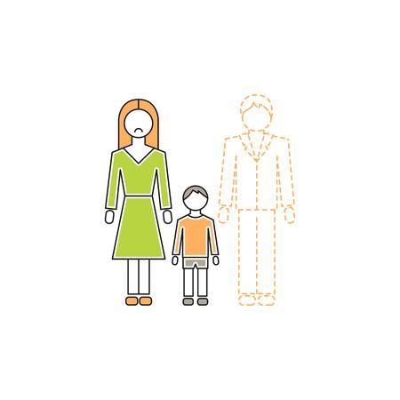 Alleinerziehende Mutter Symbol
