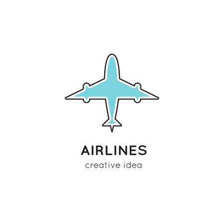 Logo template illustration for airline company, airport or travel agency.