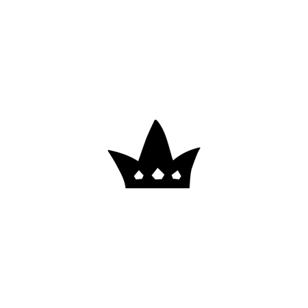 Vector hand drawn object, crown. Logo element