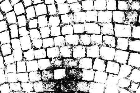 Vektor-Ziegelsteine und Steine-Textur. Abstrakter Hintergrund, alte Steinmauer. Legen Sie Illustrationen über jedes Design, um grungigen Vintage-Effekt und Tiefe zu erzeugen. Für Poster, Banner, Retro- und Urban-Designs.