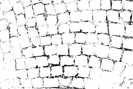Vector Bricks and Stones texture. Abstract background, old stone wall. Overlay illustration over any design to create grungy vintage effect and depth. For posters, banners, retro and urban designs.
