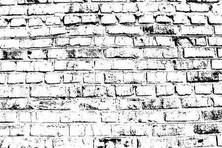 Vector Bricks and Stones texture. Abstract background, old brick wall. Overlay illustration over any design to create grungy vintage effect and depth. For posters, banners, retro and urban designs. Ilustração