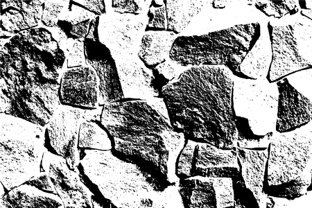 Bricks and stones texture, abstract vector background. Old stone wall. Overlay illustration over any design to create grungy vintage effect and depth. For posters, banners, retro and urban designs.
