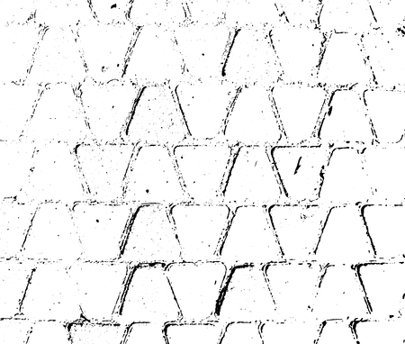 Tile surface. Vector abstract background, stones and bricks texture. Overlay illustration over any design to create grungy vintage effect and depth. For posters, banners, retro and urban designs. Illustration
