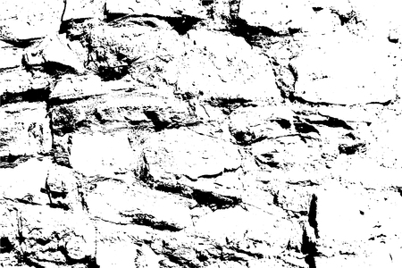 Bricks and stones vector texture, abstract background. Old stone wall. Overlay illustration over any design to create grungy vintage effect and depth. For posters, banners, retro and urban designs.