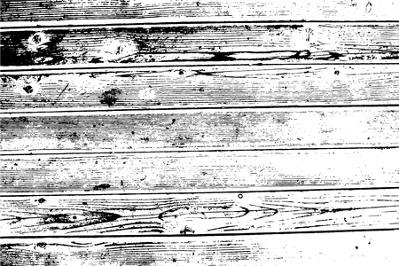Wooden wall, horizontal planks. Vector wood texture. Abstract heavy background. For posters, retro and urban designs. Overlay illustration over any design to create grungy vintage rustic effect.