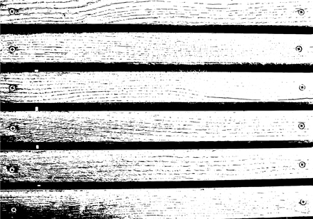 Abstract background, old wooden wall, horizontal wide planks. Vector wood texture. Overlay illustration over any design to create grungy vintage rustic effect and depth. For retro and urban designs. Stock Illustratie