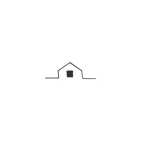 A house silhouette, vector hand drawn icon. Property rental theme. For business branding and identity, for real estate agents and house owners. Illustration