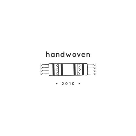 Hand drawn vector logo template. A small woven rug. For business identity and branding, for authors of handicraft products.