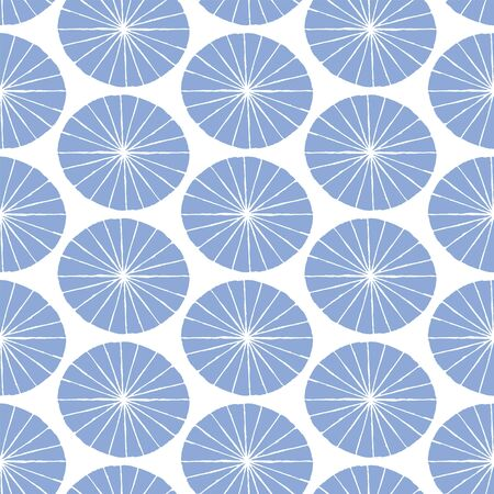 Vector hand drawn seamless pattern with fans. Japanese traditional surface design. For textile, fabric prints, wrapping paper.