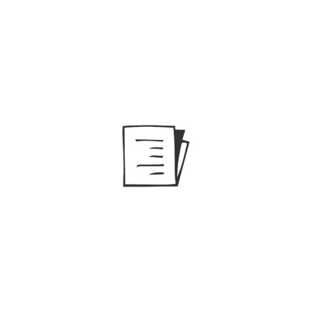Vector hand drawn icon, a written paper. Publishing, writing and copywrite theme. For business branding and identity, for writers, copywriters and publishers, for journalists and bloggers. Illustration