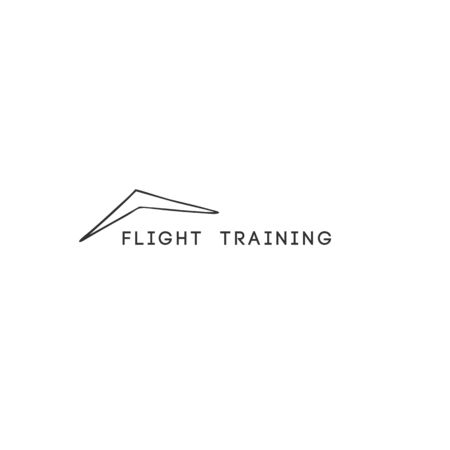 Flight training, sky sports abstract   template. Vector isolated hand drawn icon. Ilustracja